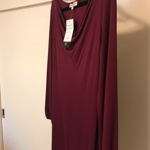 Stephen Burrows World Currant Jersey Dress BNWT